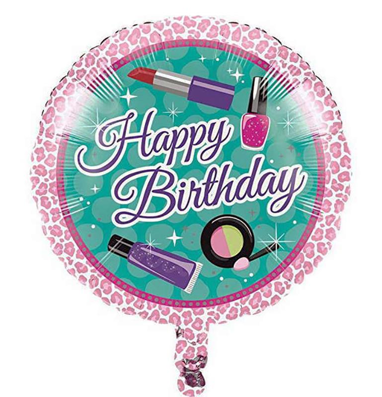 Ballon mylar Beauty party maquillage