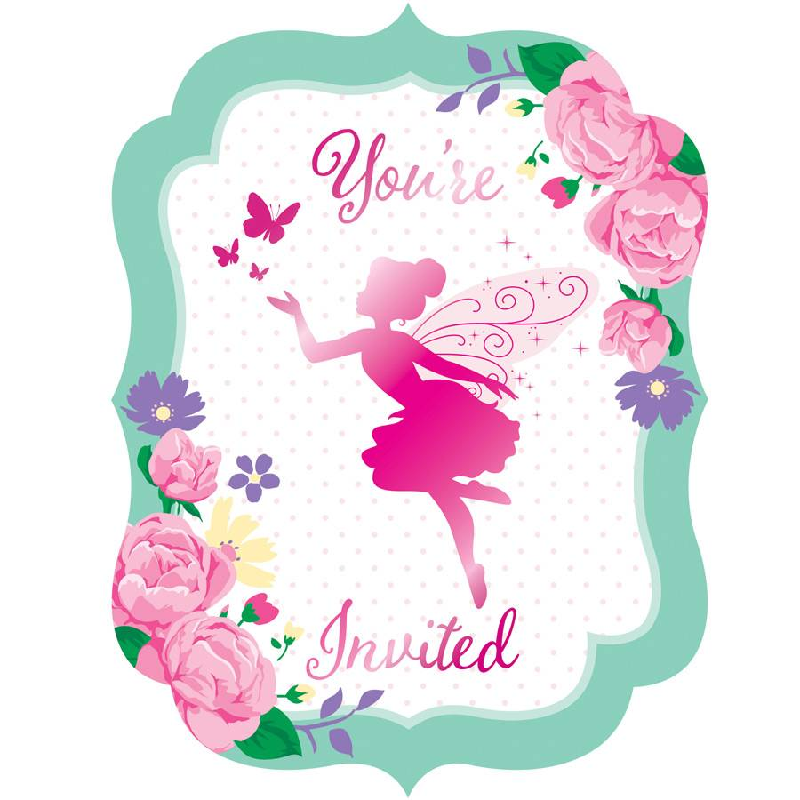 8 invitations fée florale