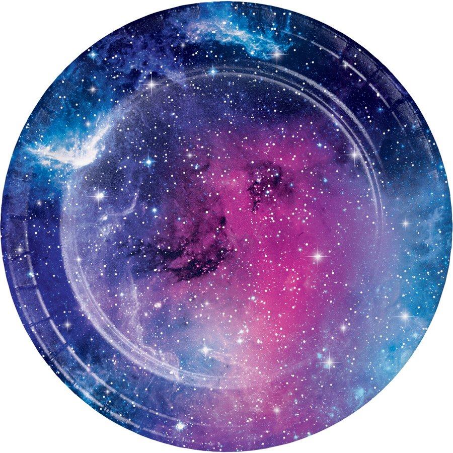 8 assiettes thème galaxie