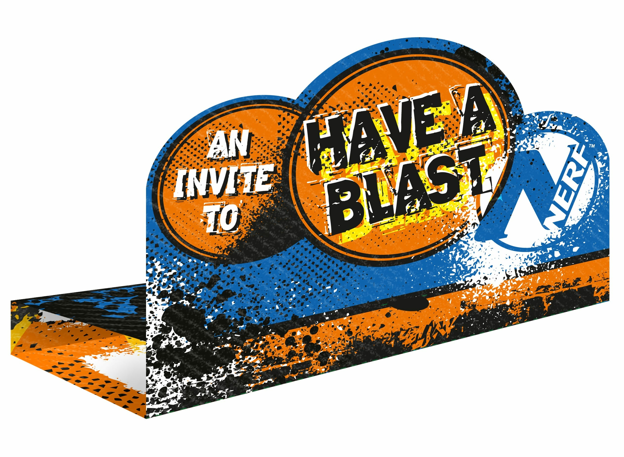 8 INVITATIONS NERF NATION