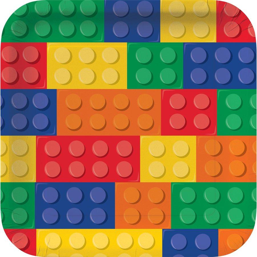8 ASSIETTES LEGO BLOCK PARTY