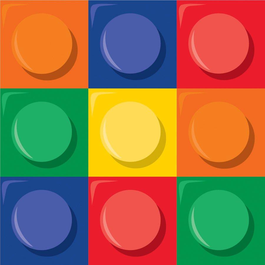 16 serviettes Lego Block party