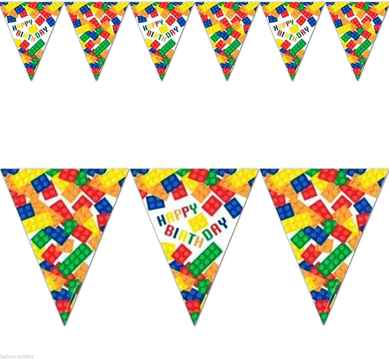 Guirlande fanions Lego block party