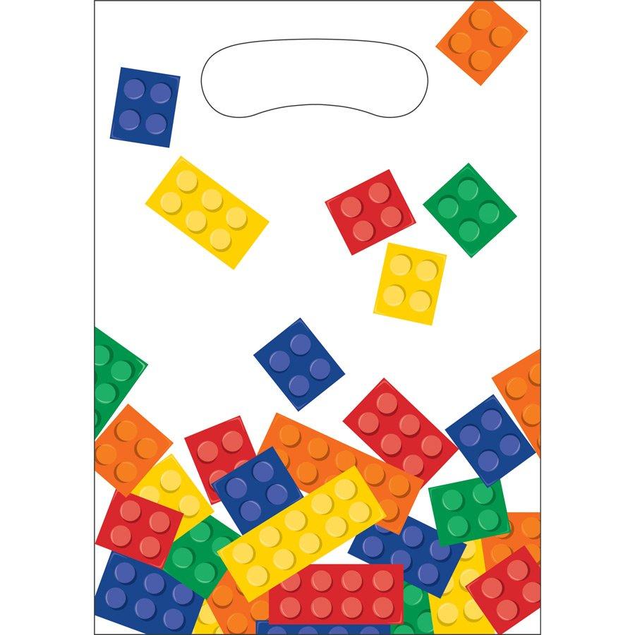 8 sachets de fêtes lego block party