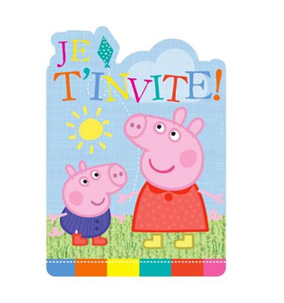 6 INVITATIONS PEPPA PIG
