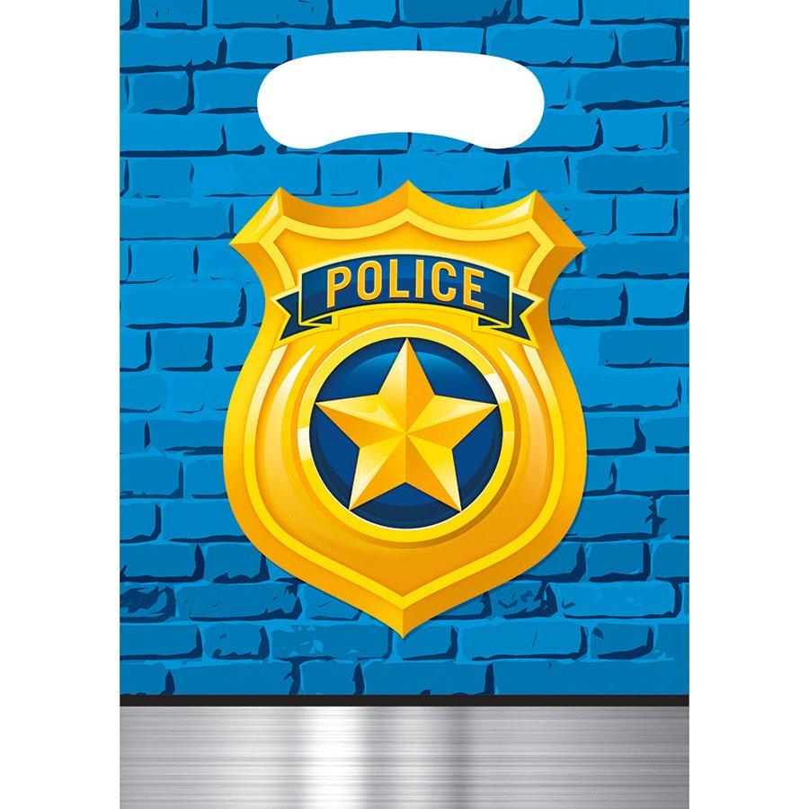 8 sachets de fêtes police