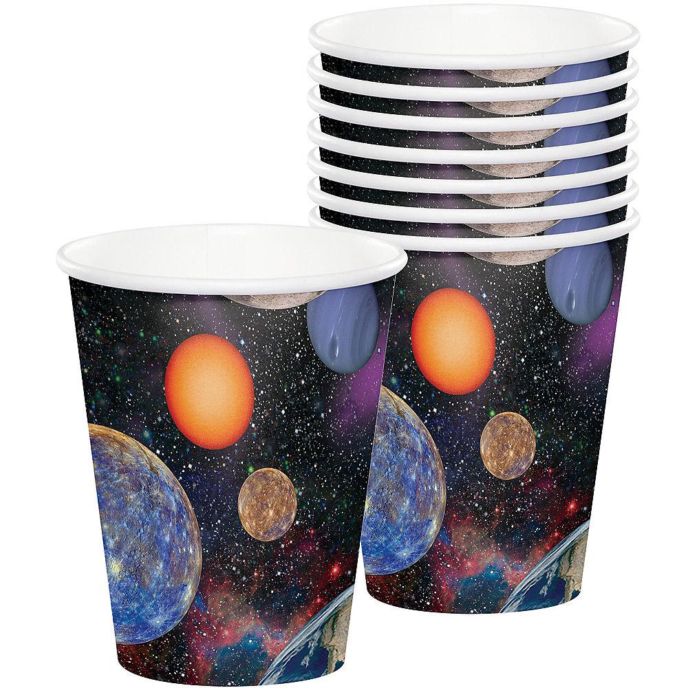8 gobelets thème espace et fusée