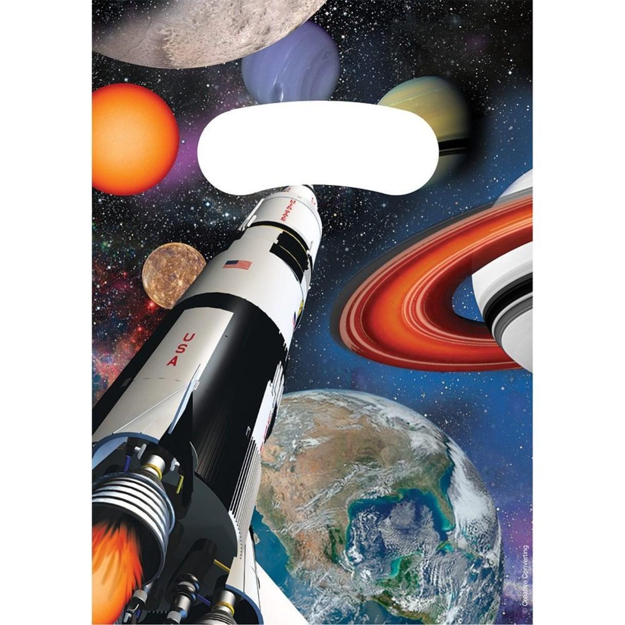 8 sachet surprises thème espace et fusée .