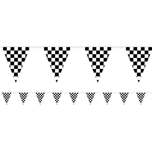 Guirlande fanions racing à damiers