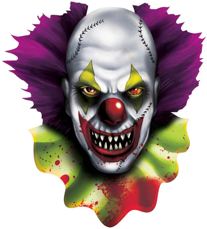 Décor carton clown diabolique