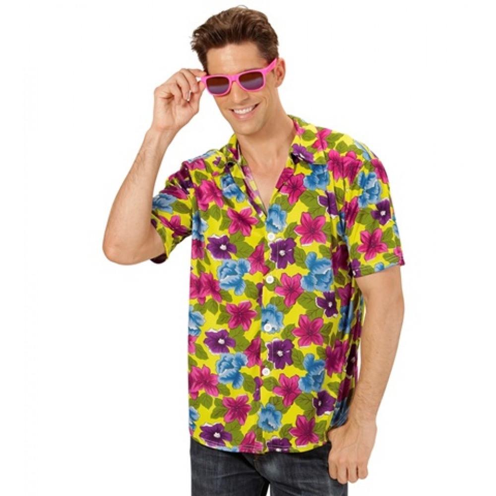 Chemise hawaienne ou hippie à fleurs