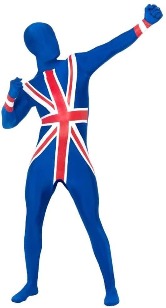 Déguisement seconde peau drapeau anglais union jack