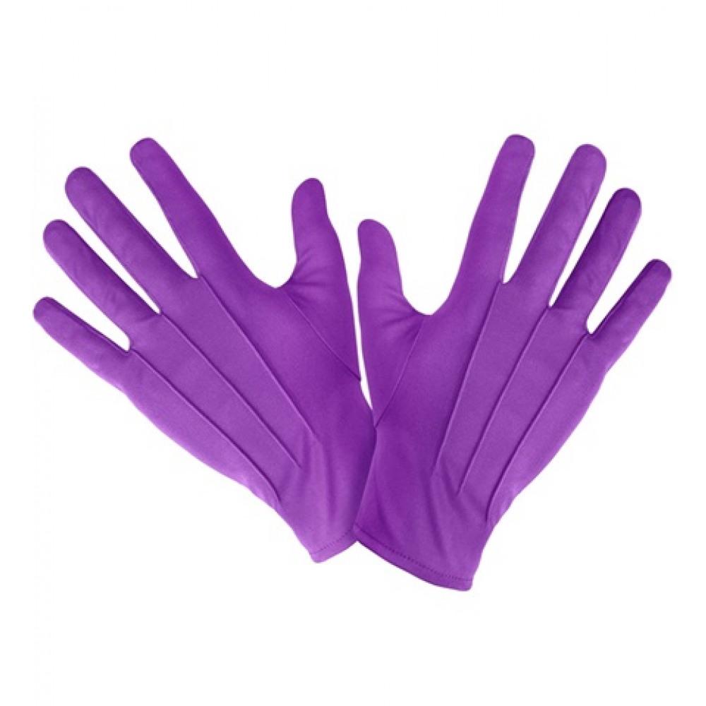 Gants courts violets