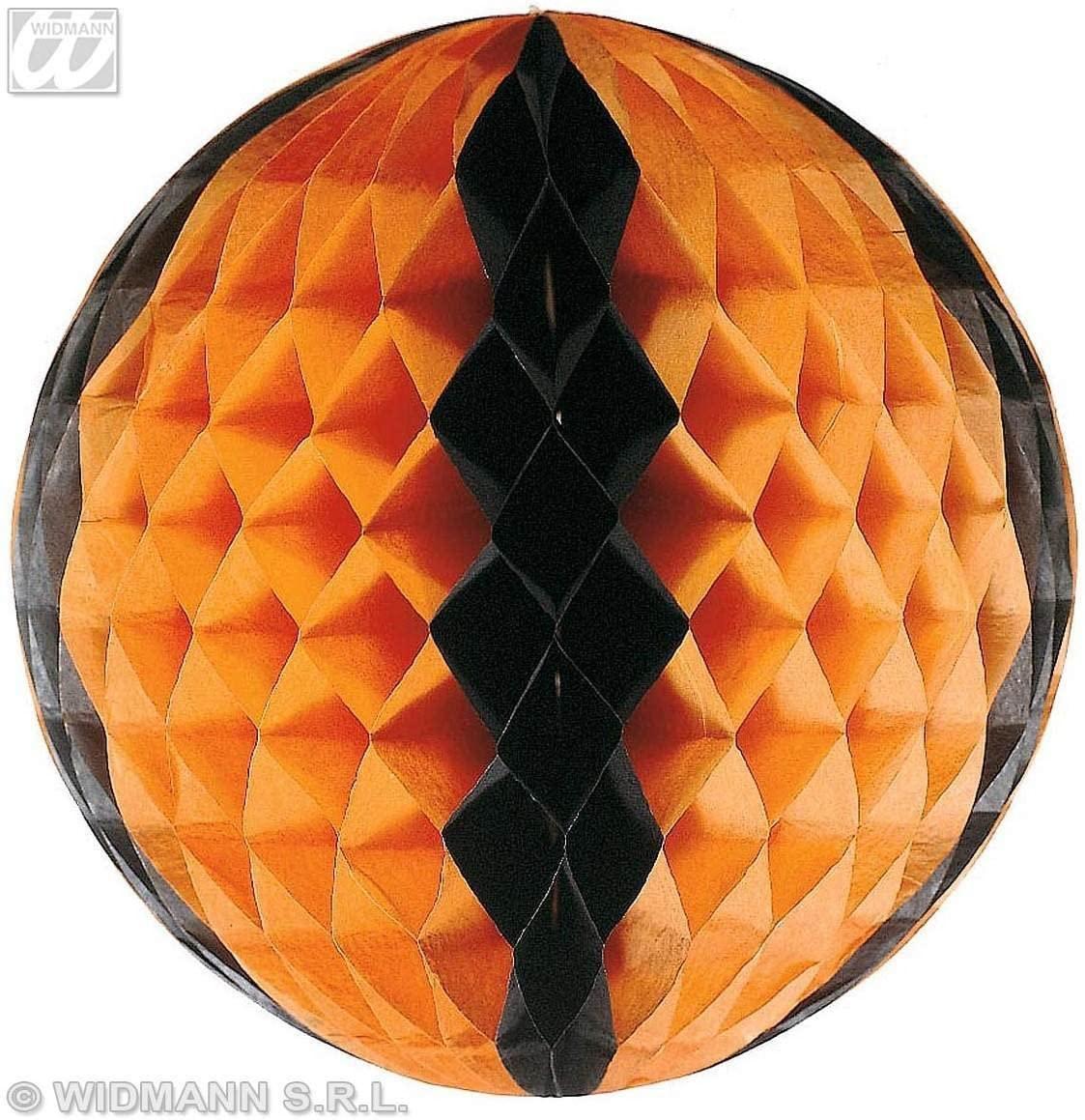 Boule alvéolée orange et noire
