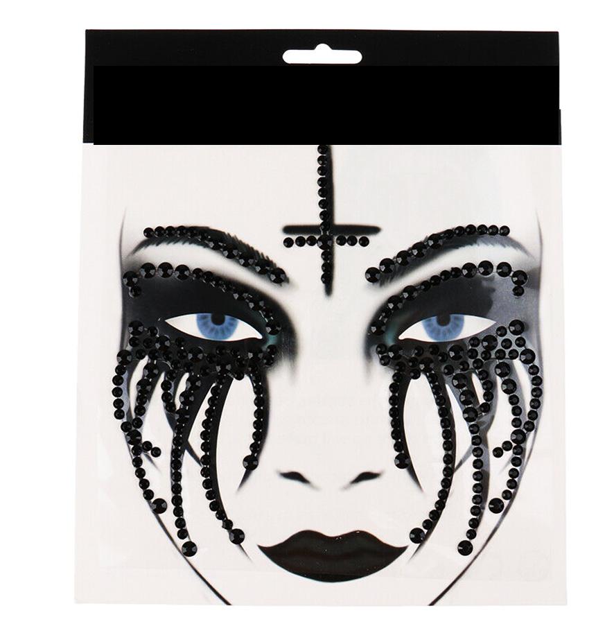 Stickers strass bijou de peau gothique
