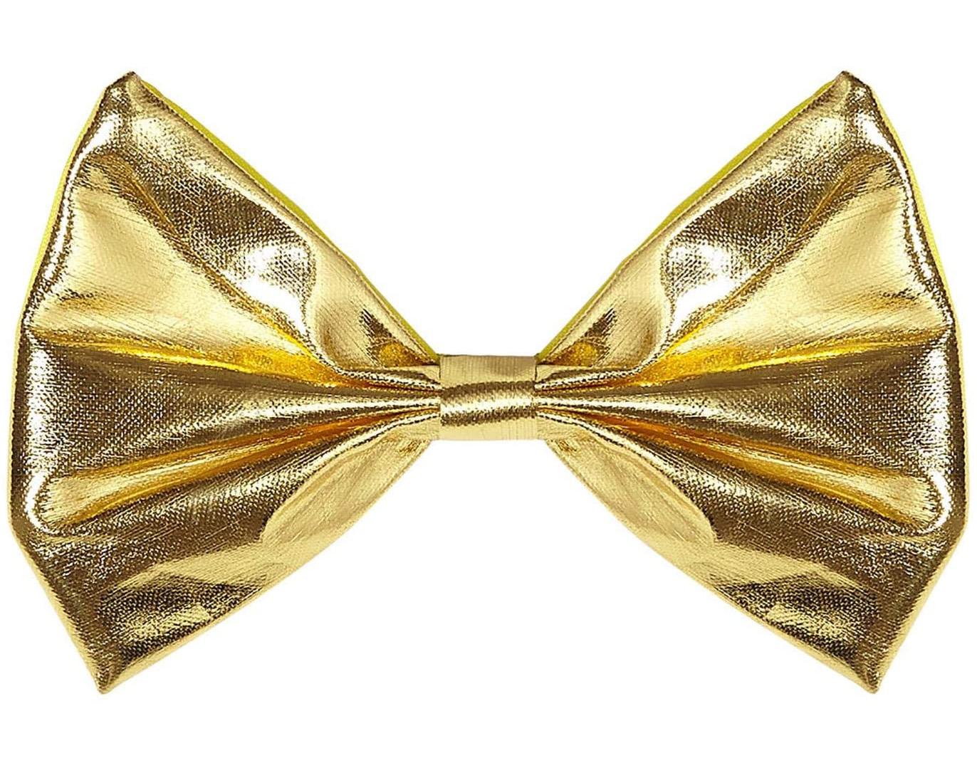 Noeud papillon metallise or
