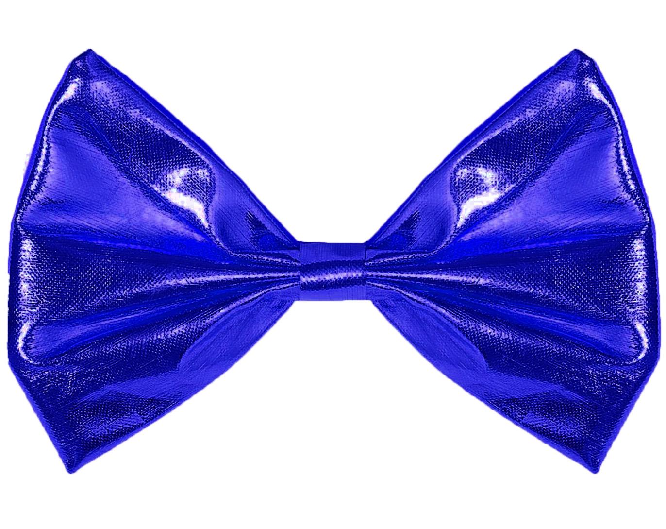 Noeud papillon métallisé bleu roy