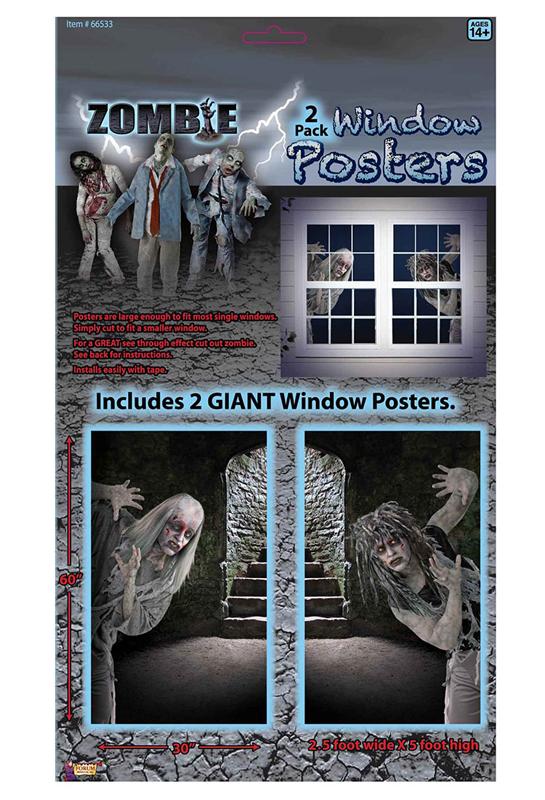 2 décors géants zombie