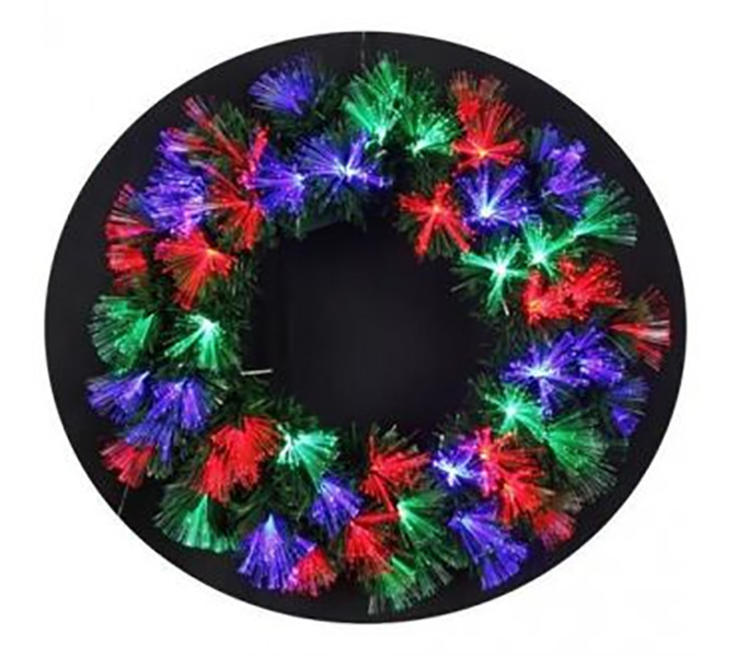Couronne de Noel fibre optique