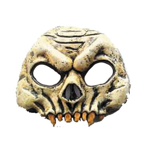 demi masque en latex squelette