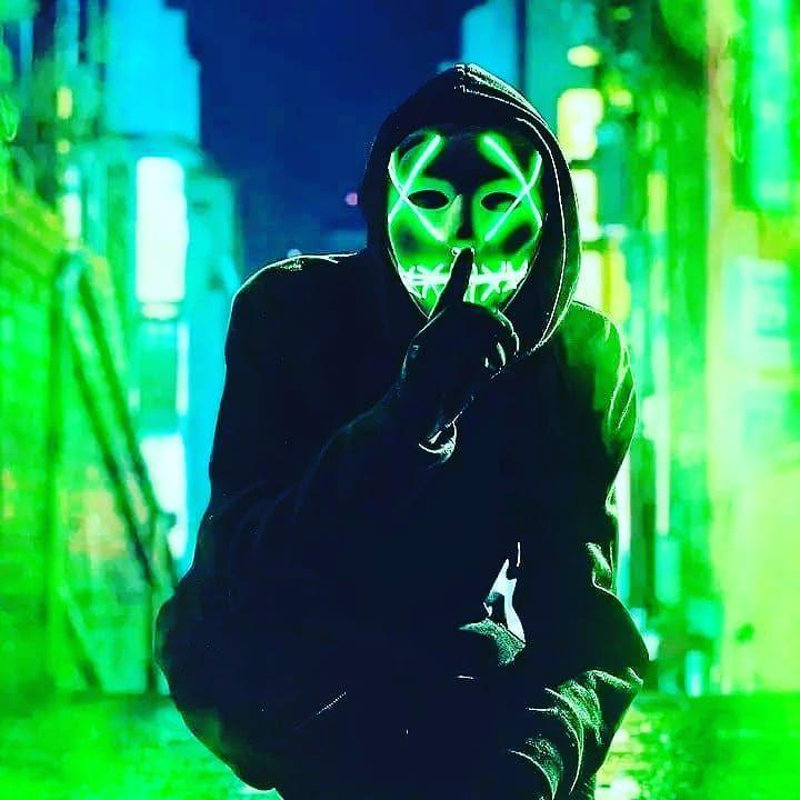 Masque à leds verts American Nightmare