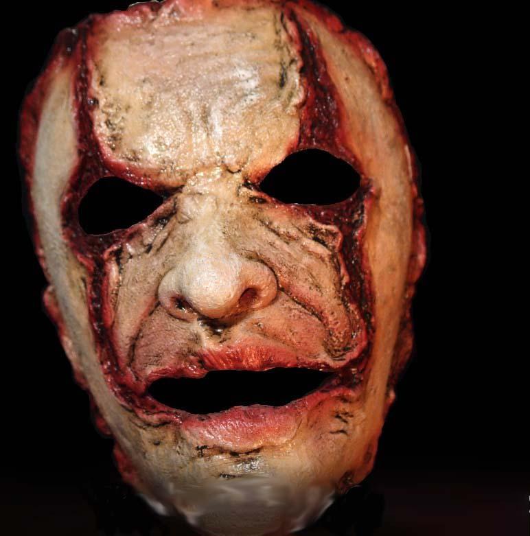 demi masque en latex serial killer
