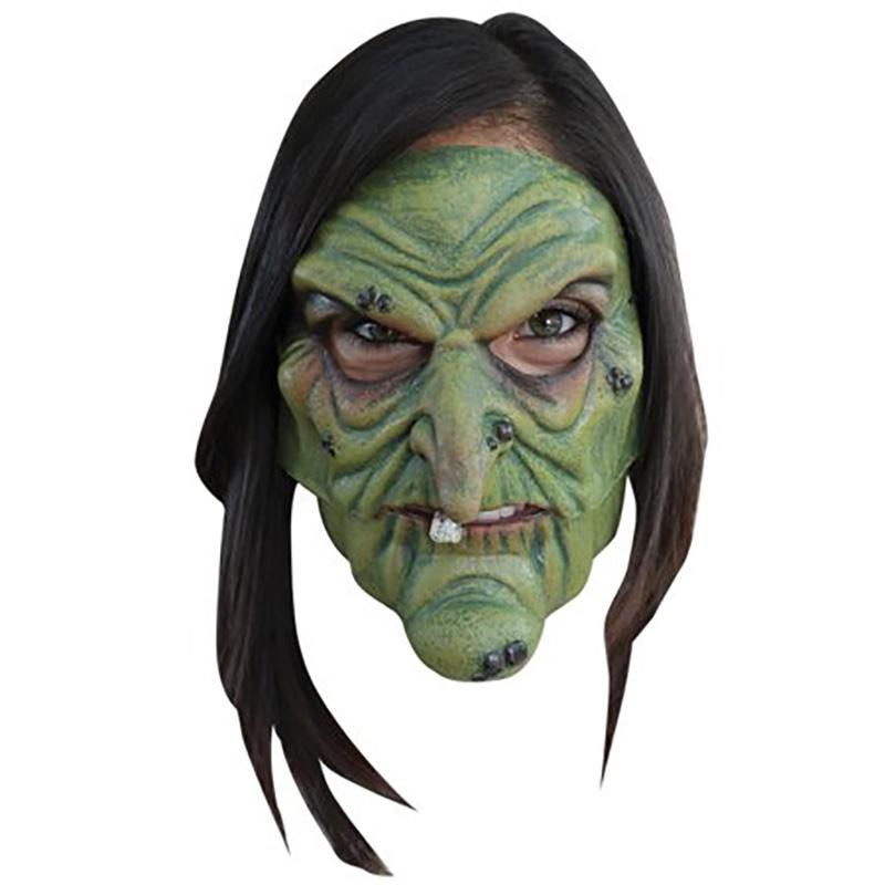Demi masque sorcière articulée en latex