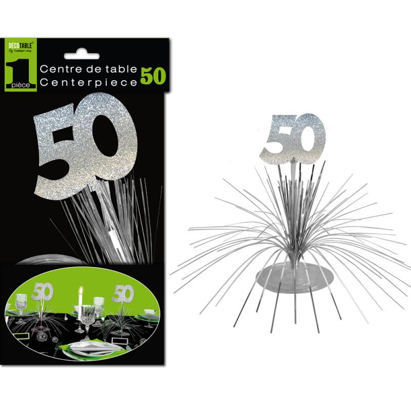 Centre de table 50 ans