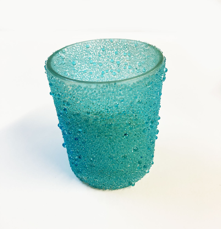2 Photophores bleu turquoise