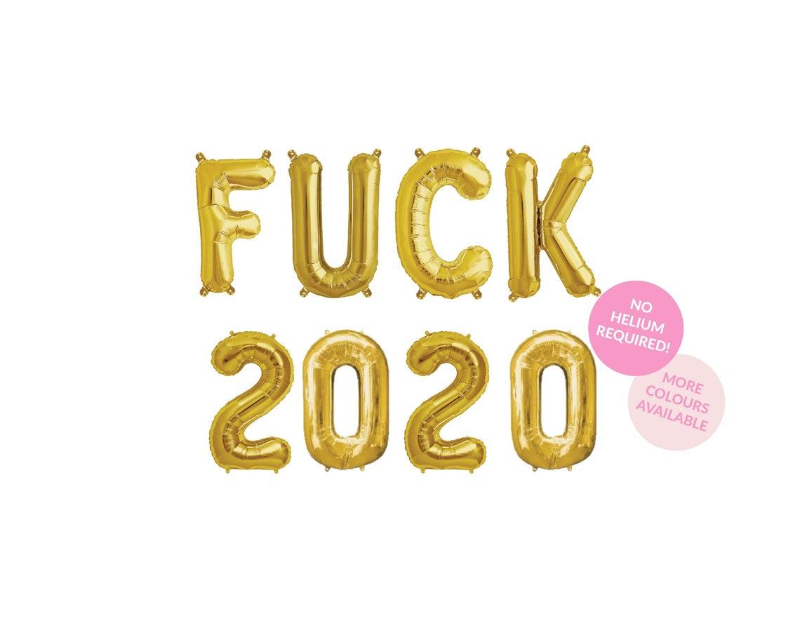 Ballons mylar Fuck 2020