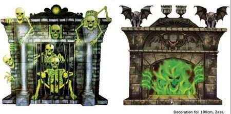 2 Décorations Murales Halloween Cheminée