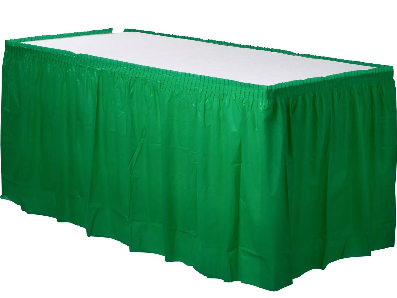 Jupe de table vert sapin