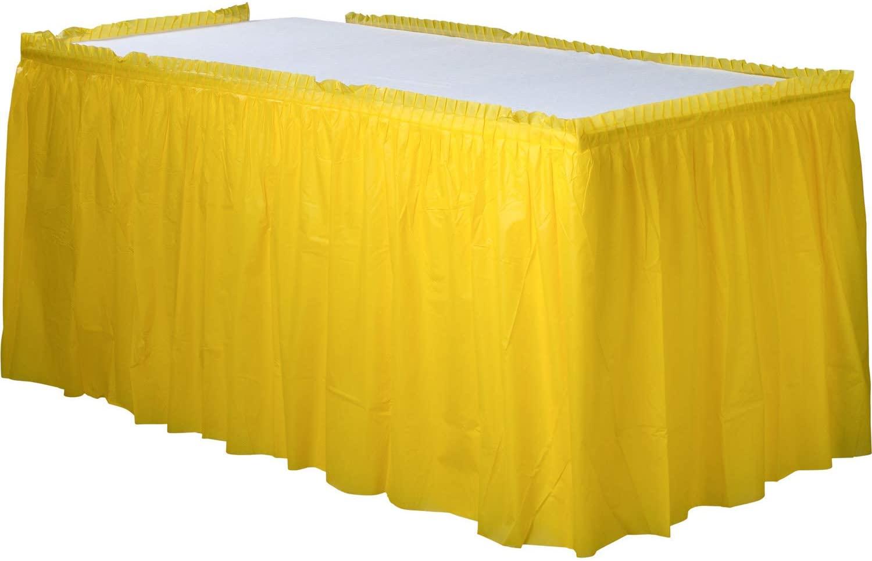 Jupe de table jaune