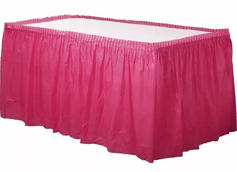 Jupe de table rose fuchsia