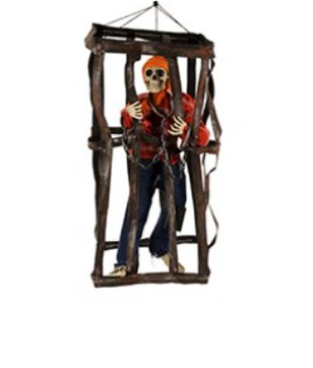 Pirate en cage avec son et lumière