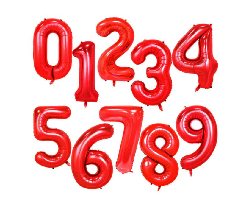 Ballon géant aluminium chiffre rouge 104 cm