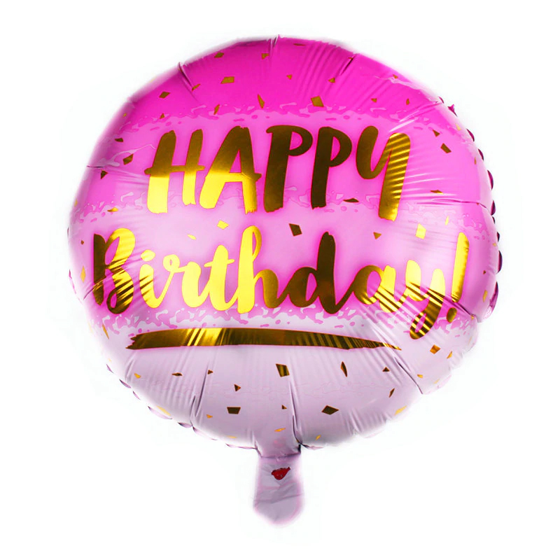 Ballon aluminium happy birthday rose