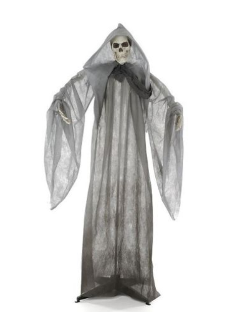 Décor sur pied lumineux squelette 160cm