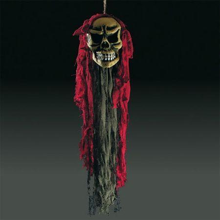 Crâne à Suspendre Rouge 90Cm