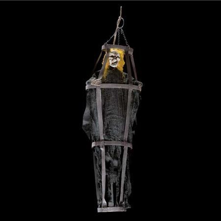 Suspension Halloween Cage Avec Zombie 62 Cm