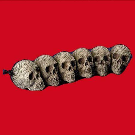 6 Mini Crânes Halloween 10 Cm