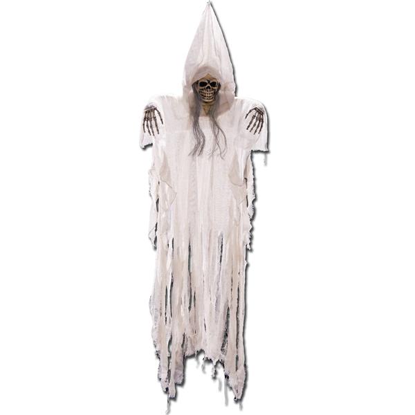 Suspension Halloween squelette blanc 175 cm