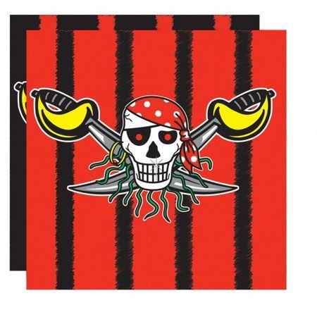20 Serviettes Pirates