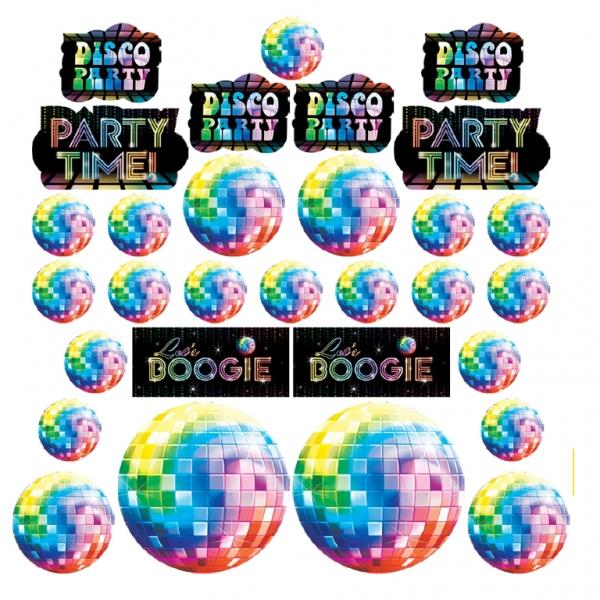 30 petites décorations thèmes disco
