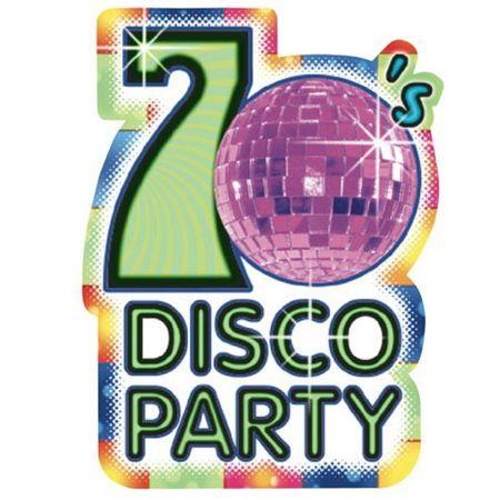 Invitations Thème Disco