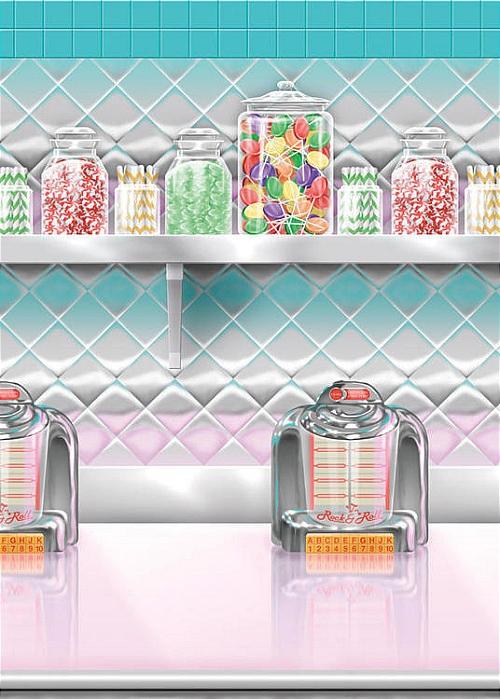 Décoration murale bar à bonbons