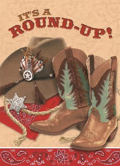 Invitations thème western