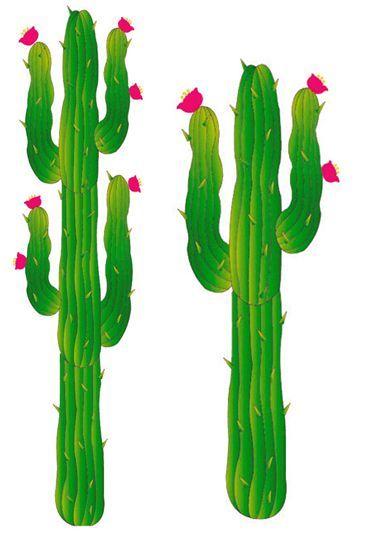 2 Cactus En Carton Plat