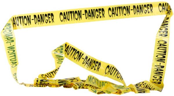 Banderole danger