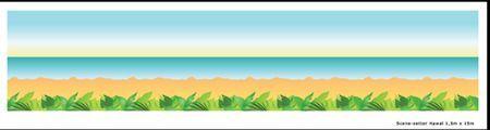 Décoration Murale Hawaï 1.2 M X 15 M
